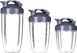 Hito-Goods Nutribullet Accessory, 3pcs Nutribullet Cups 18oz + 24oz + 32OZ, Clear Cups Mugs Pièce de rechange Accessoires ...
