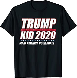 Trump Kid 2020 Make America Rock Again T-Shirt