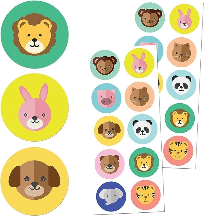 1469 opinioni per TownStix Animali Adesivi per Bambini (Cani, Gatti, Leoni, Elefanti)- 10 Disegni,