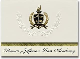 Signature Announcements Thomas Jefferson Class Academy (Mooresboro, NC) Graduation Announcements, Presidential style, Elit...