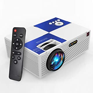 Mini Video Projectors, ONE-MIX Led Portable Movie Projector HD 2400 lumens Home Theater Projectors 1080P Support,Compatibl...