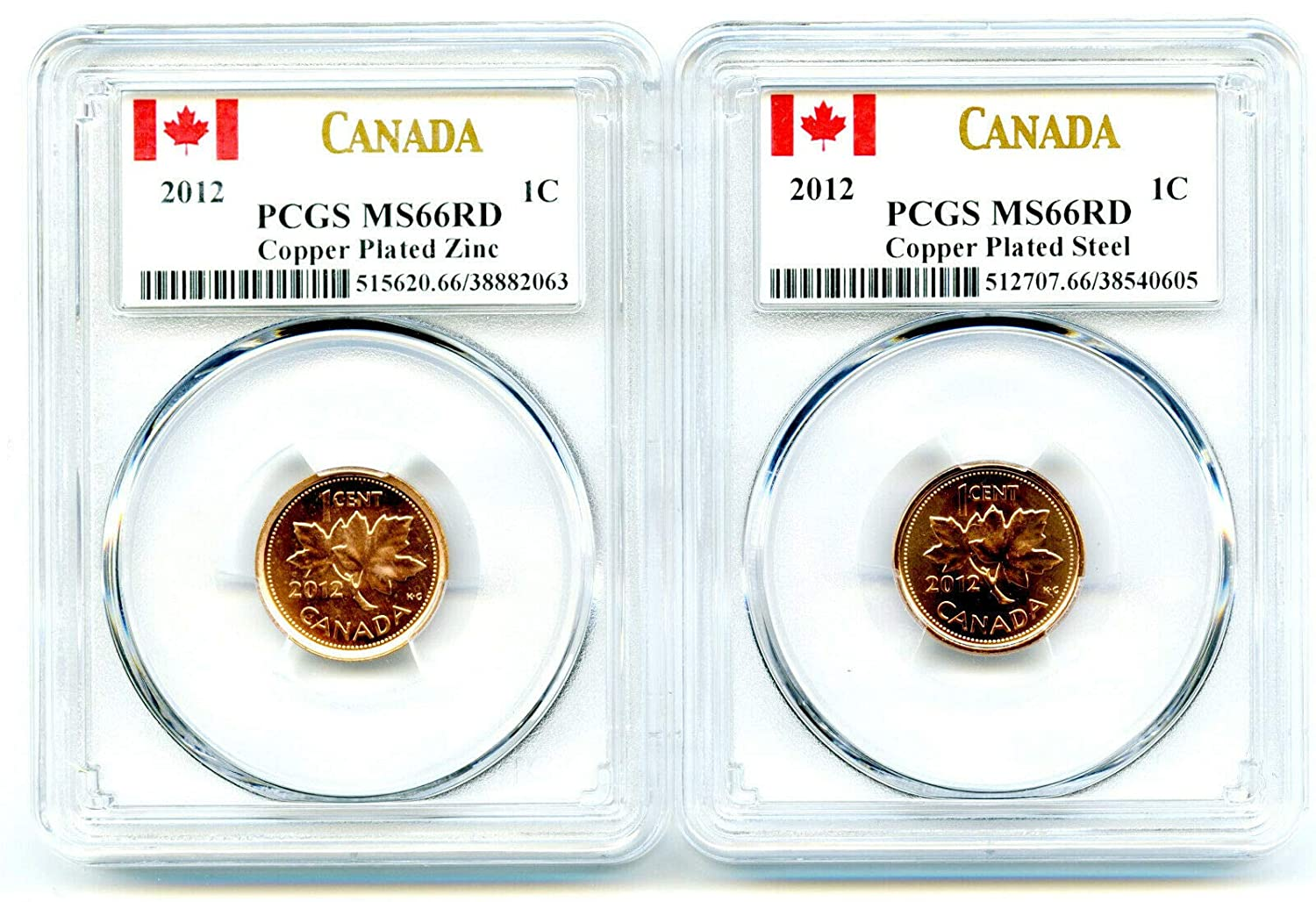Baltimore Mall 2012 Royal Max 49% OFF Canadian Mint Canada TWO COIN STEEL AND PLATED COPPER