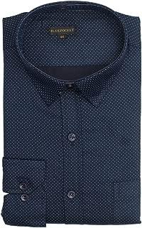 BLUEPOCKET Men's Cotton Regular Fit Rounded Hemlines Formal Shirt