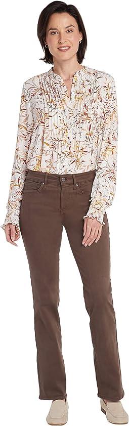 Marilyn Straight Jeans in Coffee Bean