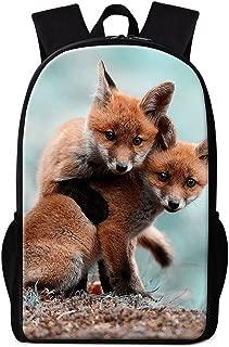 Dispalang Cute Fox Backpack Children Cool School Bag Pattern Girls Boys Day Pack