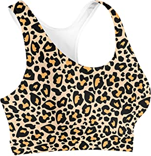 Rainbow Rules Bright Leopard Print Sports Bra