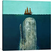 iCanvasART 1-Piece The Whale Square Canvas Print by Terry Fan, 18