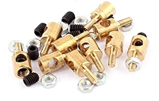 Aexit 10pcs (Electrical equipment) 5mm x 3mm Pushrod Linkage Stopper Metal for RC Model (97ry554qf162) w Nuts