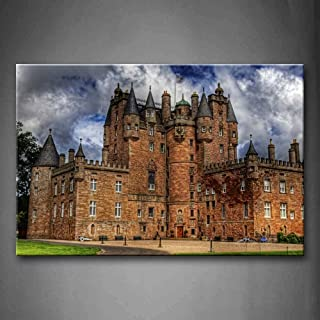 First Wall Art - Clouds Sky Above Glamis Castle Wall Art Painting The Picture Print On Canvas City Pictures for Home Decor Decoration Gift