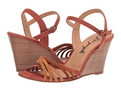 Free People Golden Hour Wedge (Brown) Women