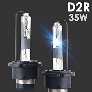 SOCAL-LED 2X D2R HID Bulbs 35W AC Factory Xenon HID Headlight Direct Replacement 8000K Light Blue