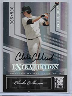 2007 Elite Extra Edition Baseball Charlie Culberson Turn Of The Century Auto # 6/500
