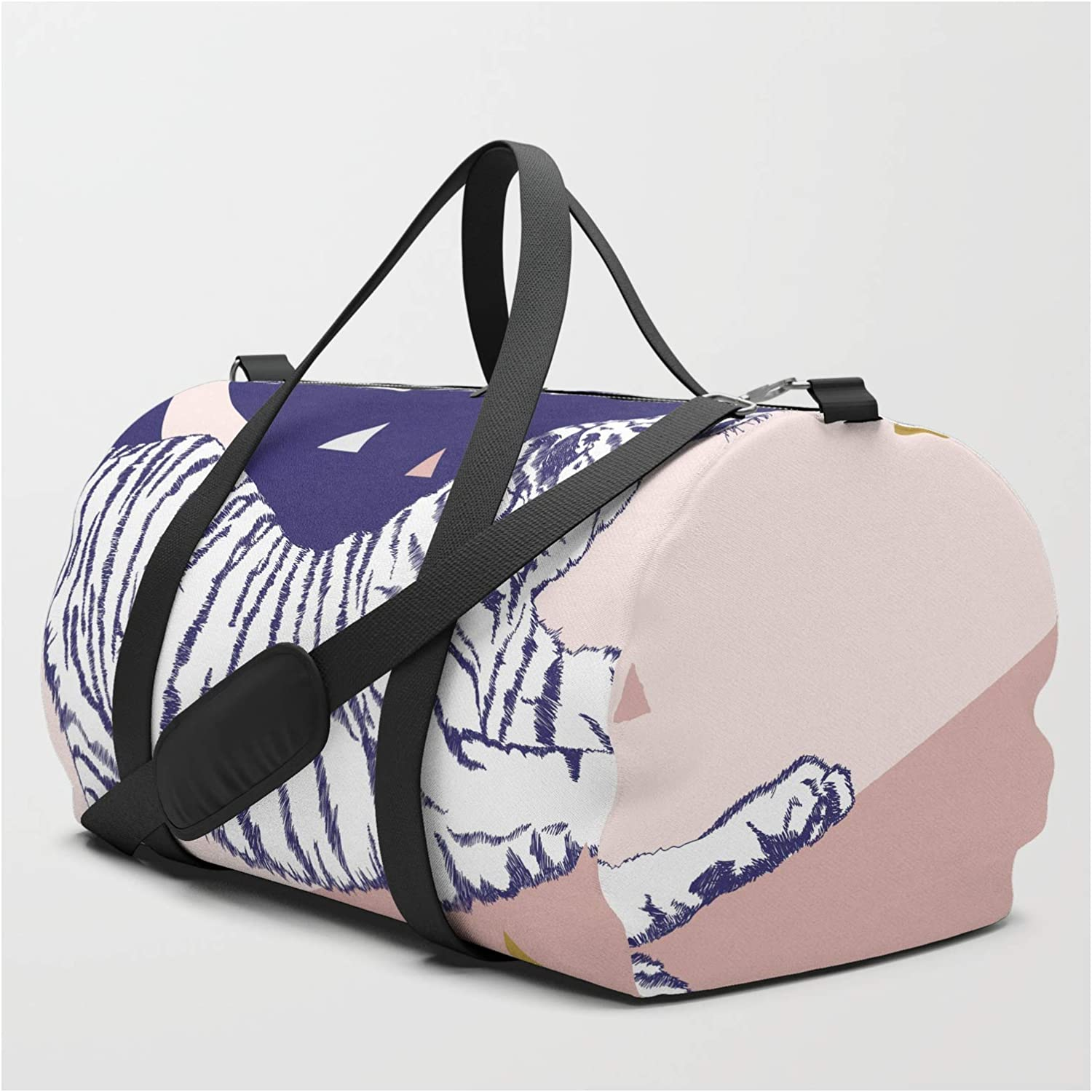 Society6 Tiger and The Sun Ii. Regular store on Bag Duffle Travel Evamatise by Dedication
