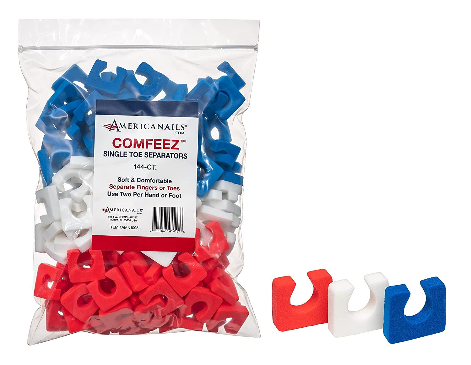 Comfeez Single Toe Separators Popular shop is San Diego Mall the lowest price challenge - 144 Count