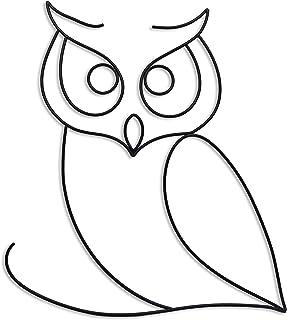Owl art print giclee owl lover kitchen art boho decor