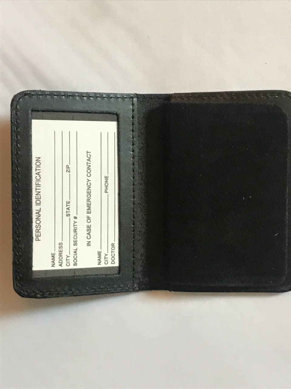 NEW YORK CITY POLICE OFFICER THIN BLUE LINE FAMILY MEMBER MINI SHIELD ID WALLET