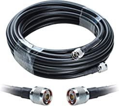 Lysignal 75-7 Low Loss Coaxial Cable N Male to N Male Connectors for Cell Phone Mobile Signal Repeater Booster Amplifier Antenna (33ft/10M)