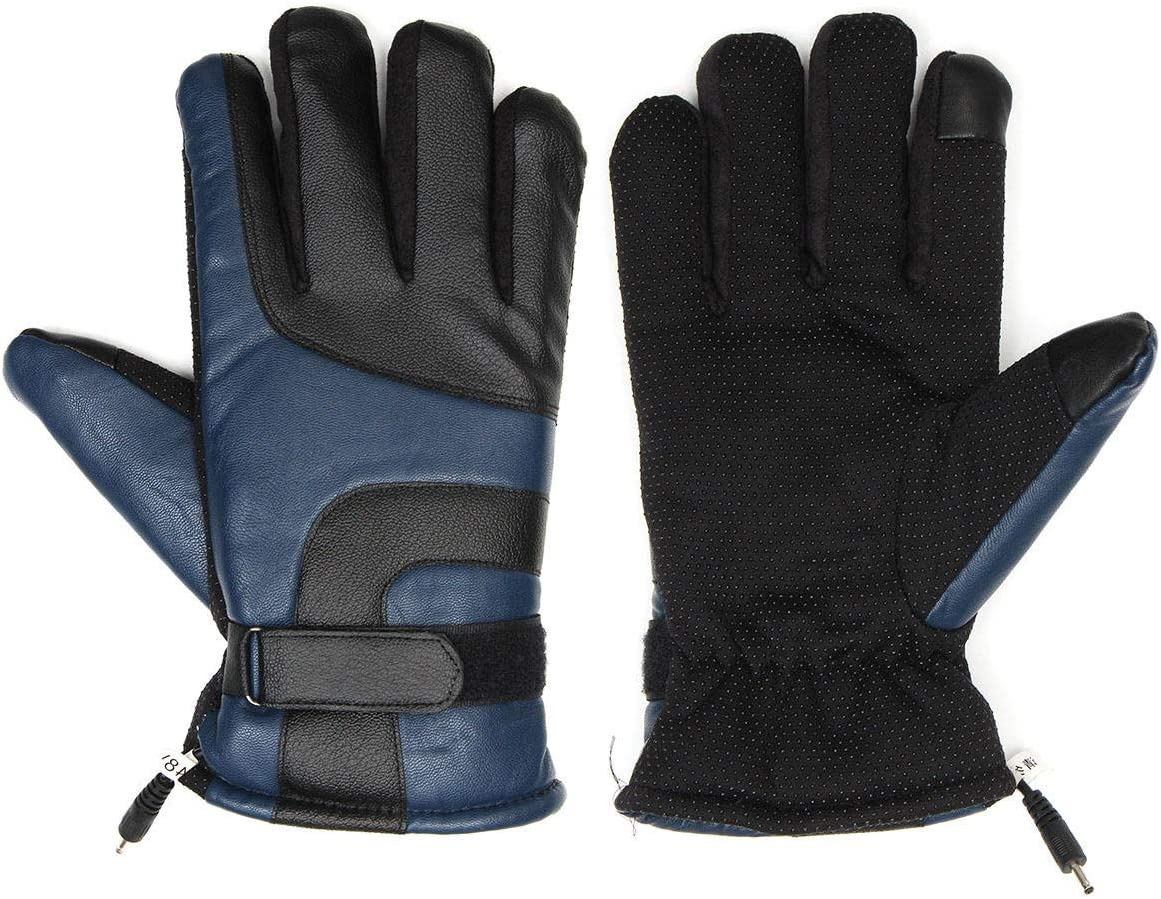 Lupovin-Keep Warm 4Gear Galvanising Het Gloves Touch Screen Motorcycle Winter Rechargeable Battery Non-Slip