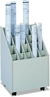 Safco Products 3082 Mobile Roll File, 20 Compartment, Putty