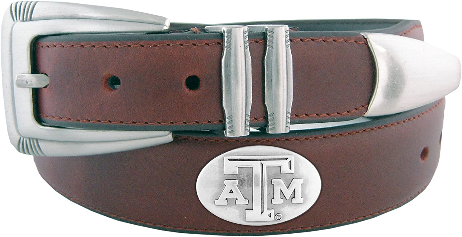 Super-cheap NCAA Texas AM Aggies Zep-Pro store Belt Tapered Leather Concho Tip