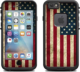 Teleskins Protective Designer Vinyl Skin Decals/Stickers for Lifeproof Fre iPhone 6 / 6S Case -Grunge USA American Flag Design Patterns - Only Skins and Not Case