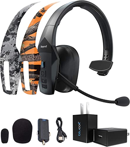discount BlueParrott B550-XT Voice Controlled Bluetooth Headset Bundle with 2-Pack high quality of MightySkins Removable Decal Stickers (Orange Tree Camo and Viper Urban), and Blucoil USB Wall popular Adapter outlet online sale