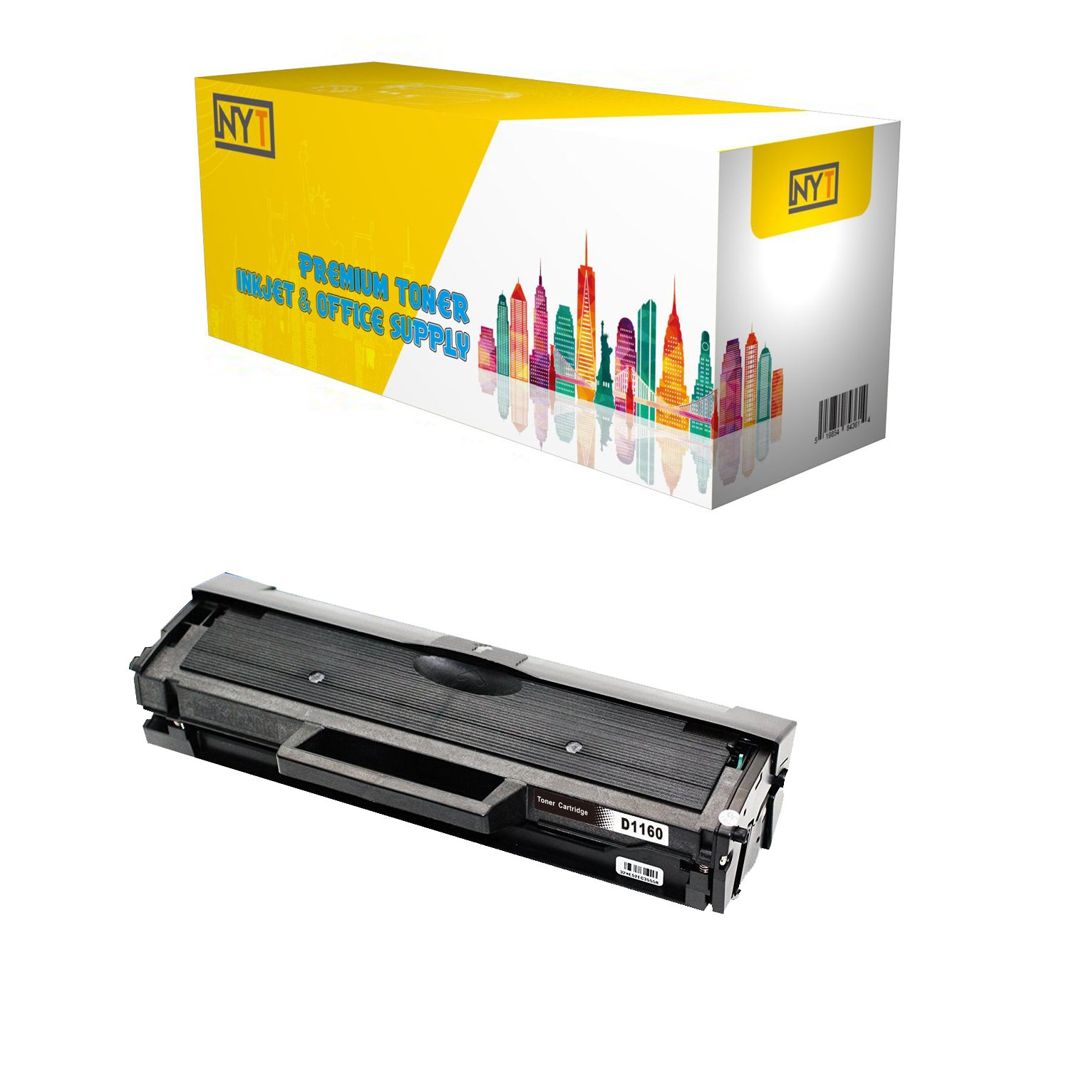 B1165NFW B1163W Black B1160W The House of Toner Compatible Toner Cartridge Replacement for DELL 331-7335 use in B1160