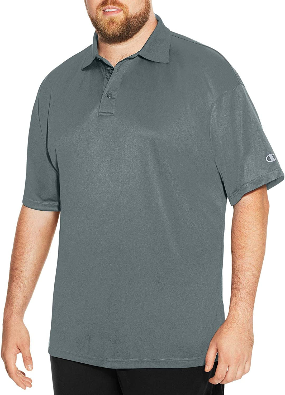 Champion おすすめ Men's Big-Tall Powertrain Shirt クリアランスsale 期間限定 Polo Solid