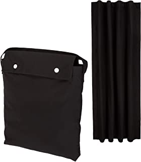 Amazon Basics Portable Travel Window Blackout Curtain Shades with Suction Cups - Black