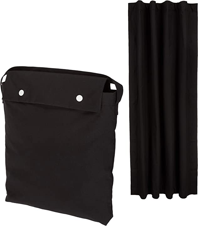 Tenda oscurante buio totale portatile con ventose, da viaggio - nero amazon basics GW191007-1