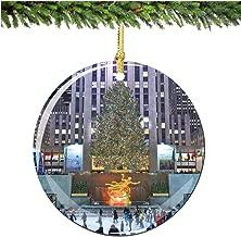 City-Souvenirs Rockefeller Center Christmas Ornament, Christmas Tree Porcelain 2.75
