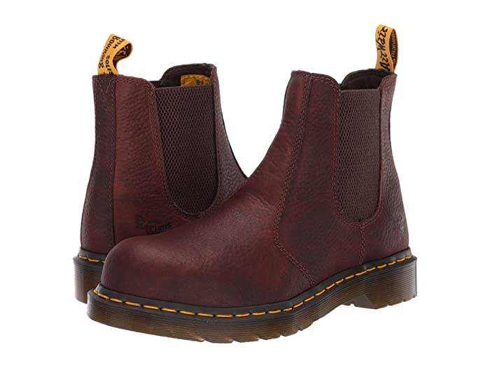 Dr. Martens Work  Arbor Steel Toe Chelsea Boot (Teak) Womens Pull-on Boots