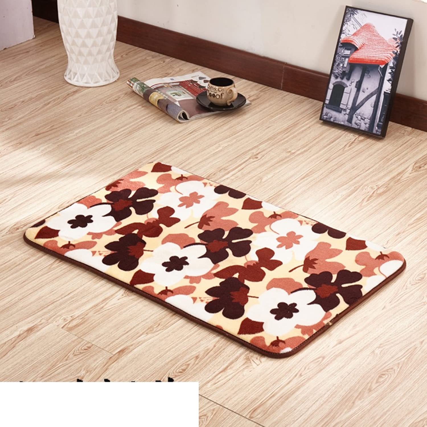 Thickened Household Door mats Bedroom Indoor mats Bathroom pratunam pad Kitchen Floor mats-G 100x200cm(39x79inch)