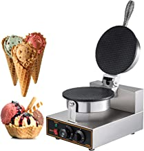 Happybuy Electric Ice Cream Cone Waffle Maker Machine 1200W Stainless Steel Nonstick Surface for for Commercial Home Use, 10x13 inch,