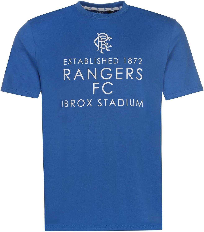 Glasgow Rangers Ibrox TShirt Mens Royal Football Soccer Top Tee Shirt Tshirt