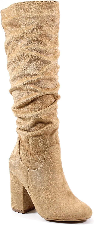 Sales for sale Diba Luxury goods London A Dana IMI Suede Block Heel Shaft Slouchy Boot Full