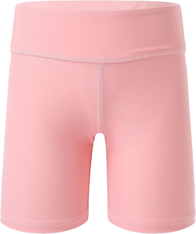 Hansber Kids Girls Basic Yoga Ballet Dance Shorts Athletic Booty Shorts for Gymnastics/Running/Cycling/Sports