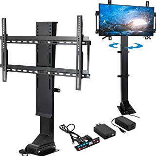 Happybuy Pro Swivel Motorized TV Lift 32''-70'' TV Lift Mechanism 1000mm Lift Mount Auto Lifting Adjustable Height with Remote Controller for Plasma LCD LED TV and Monitors