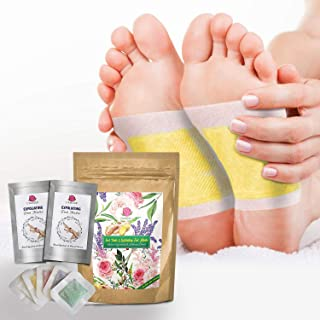 30 Premium 2-in-1 Foot Pads PLUS 2 Pairs of Exfoliating Foot Masks | Foot Care, Pain Relief, Relaxation, General Well-being | Peels Away Dead Skin & Removes Calluses for Baby Soft Feet | L'AMOUR yes!