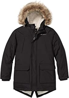 Sponsored Ad - Eddie Bauer Boys Parka Coat - Down Winter Coat, Fur Hood