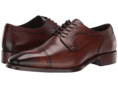 J&M Collection Cormac Cap Toe (Mahogany) Men