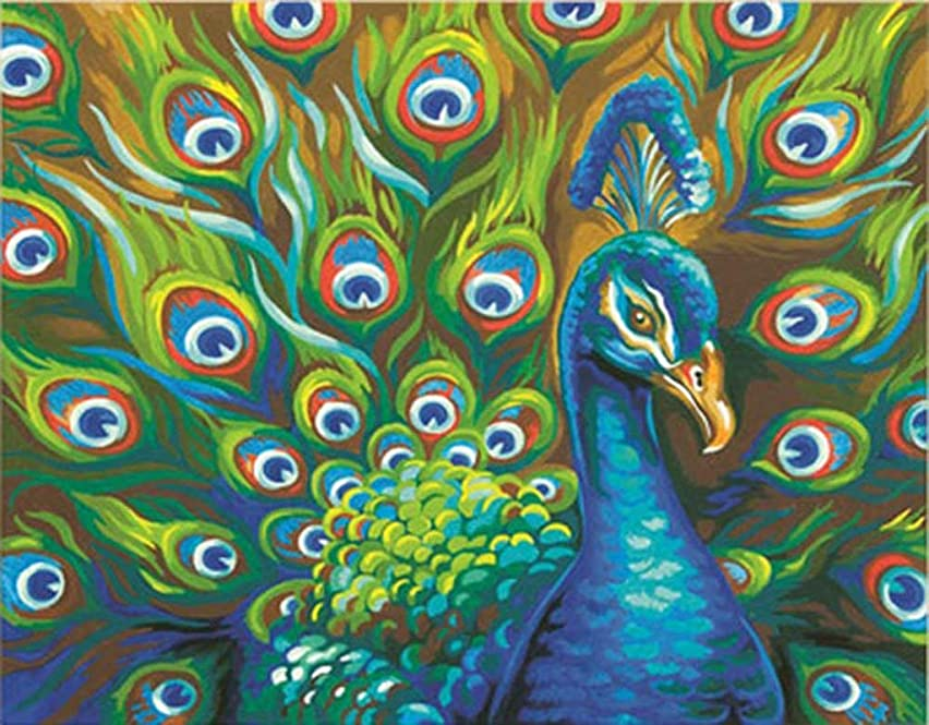 DIY Handwork Store 5D DIY Full Square Velvet Canvas Crystal Diamond Painting Animal Peacock Cross Stitch Kits Mosaic Art Crafts Gift Embroidery Art Painting Handcraft Decoration Home(15.7