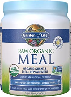 Garden of Life Meal Replacement Vanilla Powder, 14 Servings, Organic Raw Plant Based Protein Powder, Vegan, Gluten-Free