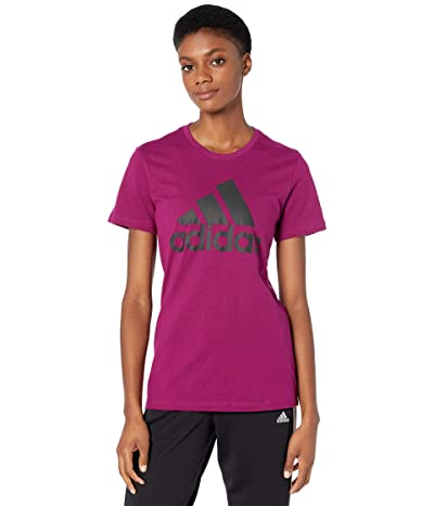 adidas Must Haves Badge of Sport Tee (Power Berry) Women