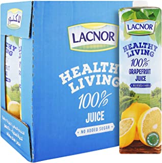 Lacnor Healthy Living Grape Fruit Juice - 1 Litre (Pack of 6)