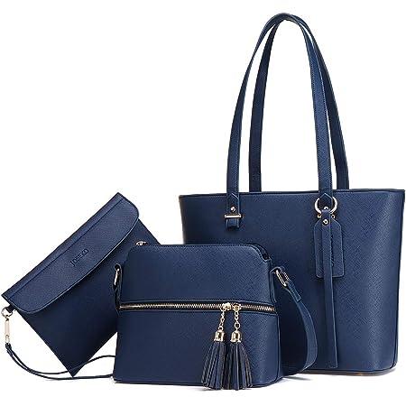 JOSEKO Handtasche Damen Tasche Damen Shopper Damen Groß Schultertasche Handtaschen Damen Groß Designer Elegant Umhängetasche Damen 3-teiliges Set Geeignet zum Einkaufen und Dating