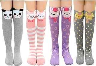 Gomerbesen, 4 pares de calcetines largos de algodón con diseño de animales