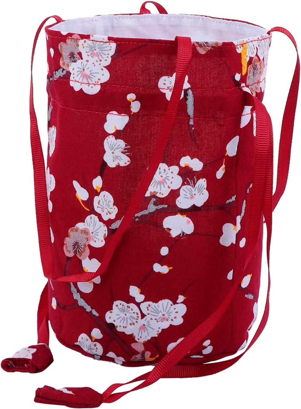 Popular popular NUOBESTY Japanese Drawstring Bag High quality new Kimono Purse Pouch Bloss Cherry