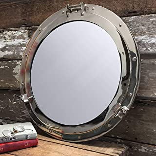 Deluxe Class Chrome Porthole Mirror 24