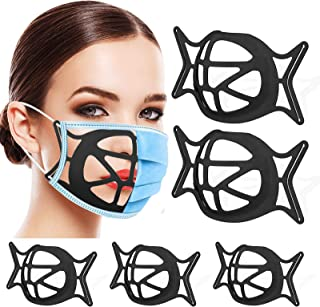 Silicone 3D Face Mask Bracket,Upgrade Face Mask Inner Support Frame,Mask Bracket Internal Support Frame for Lipstick Keep ...